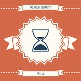 Hourglass time icon. Signs and symbols - graphic elements for your design stock illustration