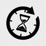 Hourglass Time Icon - Vector Illustration - Isolated On Transparent Background royalty free illustration