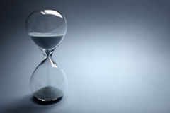 Hourglass time passing. With copy space Stock Photography