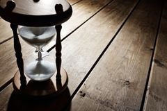 Hourglass time passing royalty free stock image