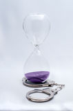 Hourglass Time Trapped Stock Photo