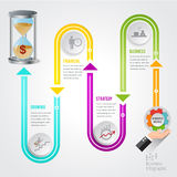 Hourglass timeline vector Business concept Stock Image