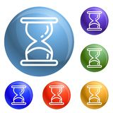 Hourglass timer icons set vector vector illustration