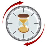 Hourglass Timer. An image of an hourglass timer Stock Photography