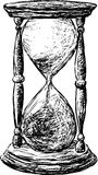 Hourglass. Vector drawing of a old hourglass stock illustration