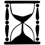 Hourglass vector eps illustration by crafteroks. Hourglass Vector, Eps, Logo, Icon, Silhouette, Illustration by crafteroks for different uses stock illustration