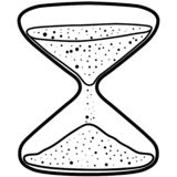 Hourglass vector eps illustration by crafteroks. Hourglass Vector, Eps, Logo, Icon, Silhouette, Illustration by crafteroks for different uses royalty free illustration