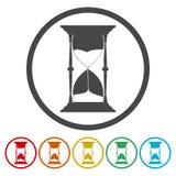 Hourglass vector icon. Vector icon stock illustration