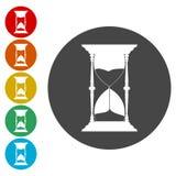 Hourglass vector icon. Vector icon vector illustration
