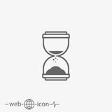 Hourglass vector icon. On grey background Stock Image