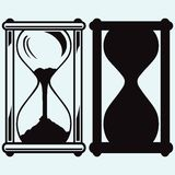 Hourglass. Vector silhouettes Royalty Free Stock Images