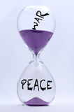 Hourglass - War and Peace Stock Photography