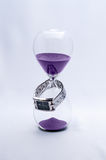 Hourglass and Watch Stock Photo
