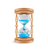 Hourglass with water dripping isolated Royalty Free Stock Photo