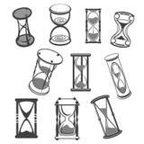 Hourglass wektoru odosobnione ikony ustawiać Zdjęcia Stock