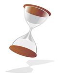 Hourglass on white royalty free illustration