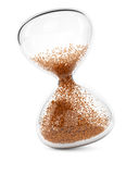 Hourglass. On white background. 3d rendering image Royalty Free Stock Image