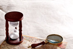 Free Hourglass With A Magnifying Glass. Royalty Free Stock Photo - 40251825