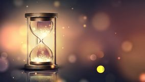 Hourglass With Shining Light Royalty Free Stock Images