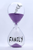 Hourglass Work or Family Royalty Free Stock Image