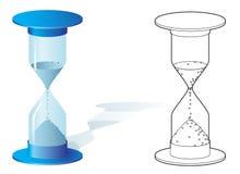 Hourglass in zwei Arten Lizenzfreie Stockfotografie