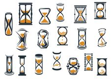 Hourglasses and egg timers set Stock Photos
