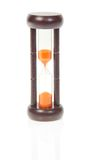 Hourglasses with orange sand Stock Photography