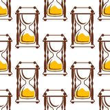 Hourglasses seamless pattern on white Royalty Free Stock Photo