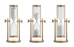 Hourglasses. Set of hourglasses isolated on white background Royalty Free Stock Photo