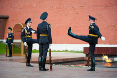 Hourly change of the Guard of Honour Stock Image