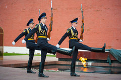 Hourly change of the Guard of Honour Stock Photos