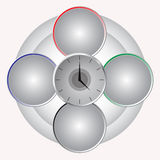 Hours against circles Royalty Free Stock Photo