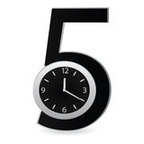 Hours against figure five Royalty Free Stock Photos