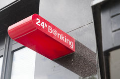 24 Hours Banking sign Royalty Free Stock Photos