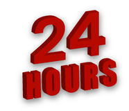 24 hours. Caption 24 hours, vector art illustration concept of service Royalty Free Stock Photography