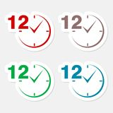 12 hours circular icons set. Vector icon Vector Illustration