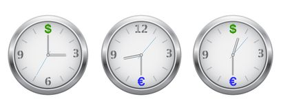 Hours currency symbolics Stock Photo