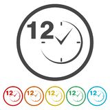 12 hours customer service. Vector icon royalty free illustration
