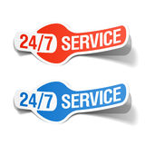 24 hours a day service sticker. Illustration Royalty Free Stock Images