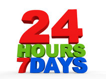 24 hours 7 days Royalty Free Stock Photo