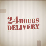 24 Hours Delivery Royalty Free Stock Image