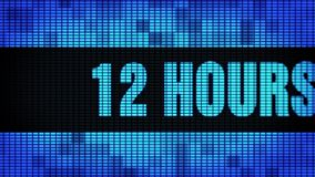 12 Hours Delivery Front Text Scrolling LED Wall Pannel Display Sign Board. 12 Hours Delivery Front Text Scrolling on Light Blue Digital LED Display Board Pixel stock footage