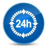 24 hours delivery icon elegant blue round button. 24 hours delivery icon isolated on elegant blue round button abstract illustration Royalty Free Stock Photo