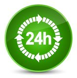 24 hours delivery icon elegant green round button. 24 hours delivery icon isolated on elegant green round button abstract illustration Stock Photos