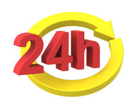 24 hours delivery sign. Royalty Free Stock Image