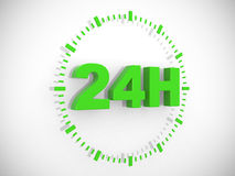 24 hours delivery sign. 3d render illustration Royalty Free Stock Photo