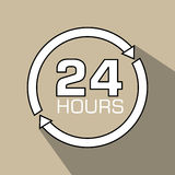 24 hours design Stock Image