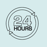 24 hours design. Illustration eps10 graphic Royalty Free Stock Images