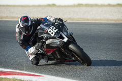 24 HOURS ENDURANCE OF MOTORCYCLING OF BARCELONA Royalty Free Stock Photo