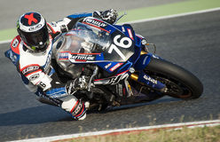 24 HOURS ENDURANCE OF MOTORCYCLING OF BARCELONA Stock Image